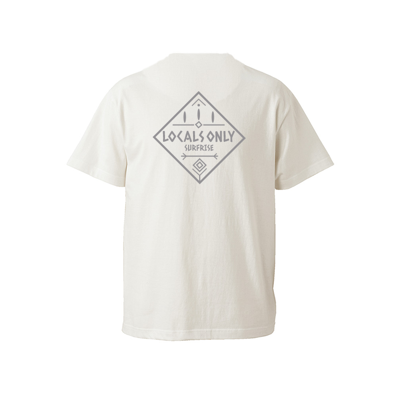 【予約:6月上旬〜中旬発送】LOCALS ONLY Tee - Vanilla white / Gray