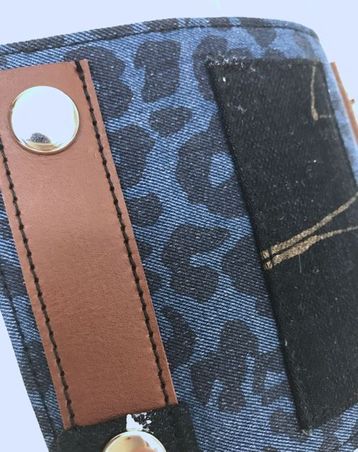 キーケース(アニマル柄 leopard 金糸)  *アンティーク着物