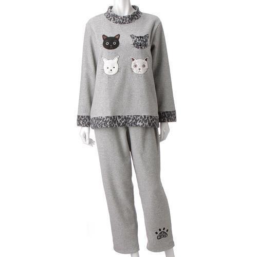 【取り寄せ】ねこパジャマ かぶりタイプ グレー
