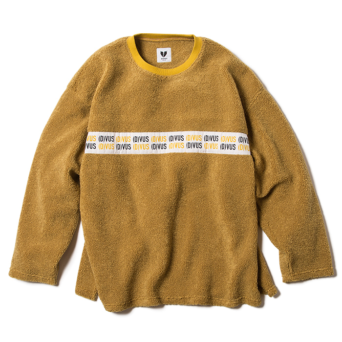 【Deviluse | デビルユース】 Woman Fleece Crewneck(Mustard)