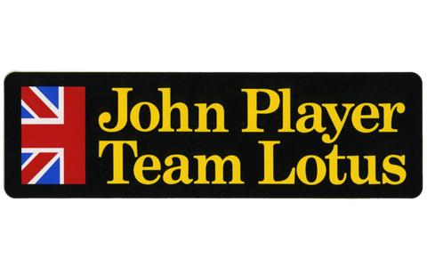 ジョン・プレイヤー・チーム・ロータス・ロゴ・ステッカー