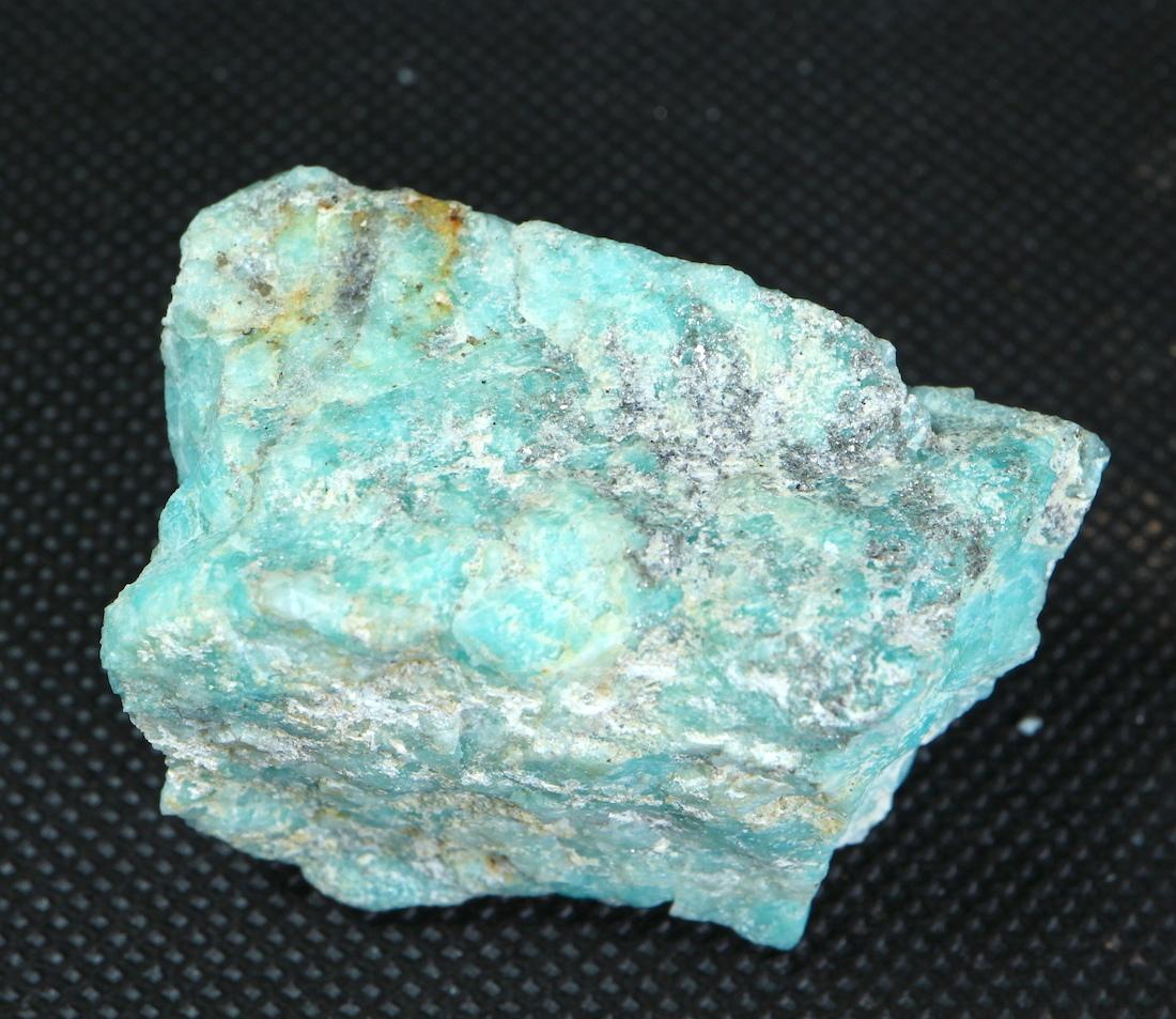 自主採掘!アマゾナイト カリフォルニア産 原石 48,9g AZ0051 天河石(てんがせき) 鉱物 天然石