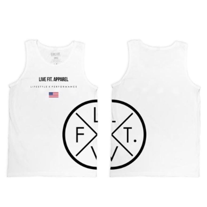 LIVE FIT Prestige Tank/White