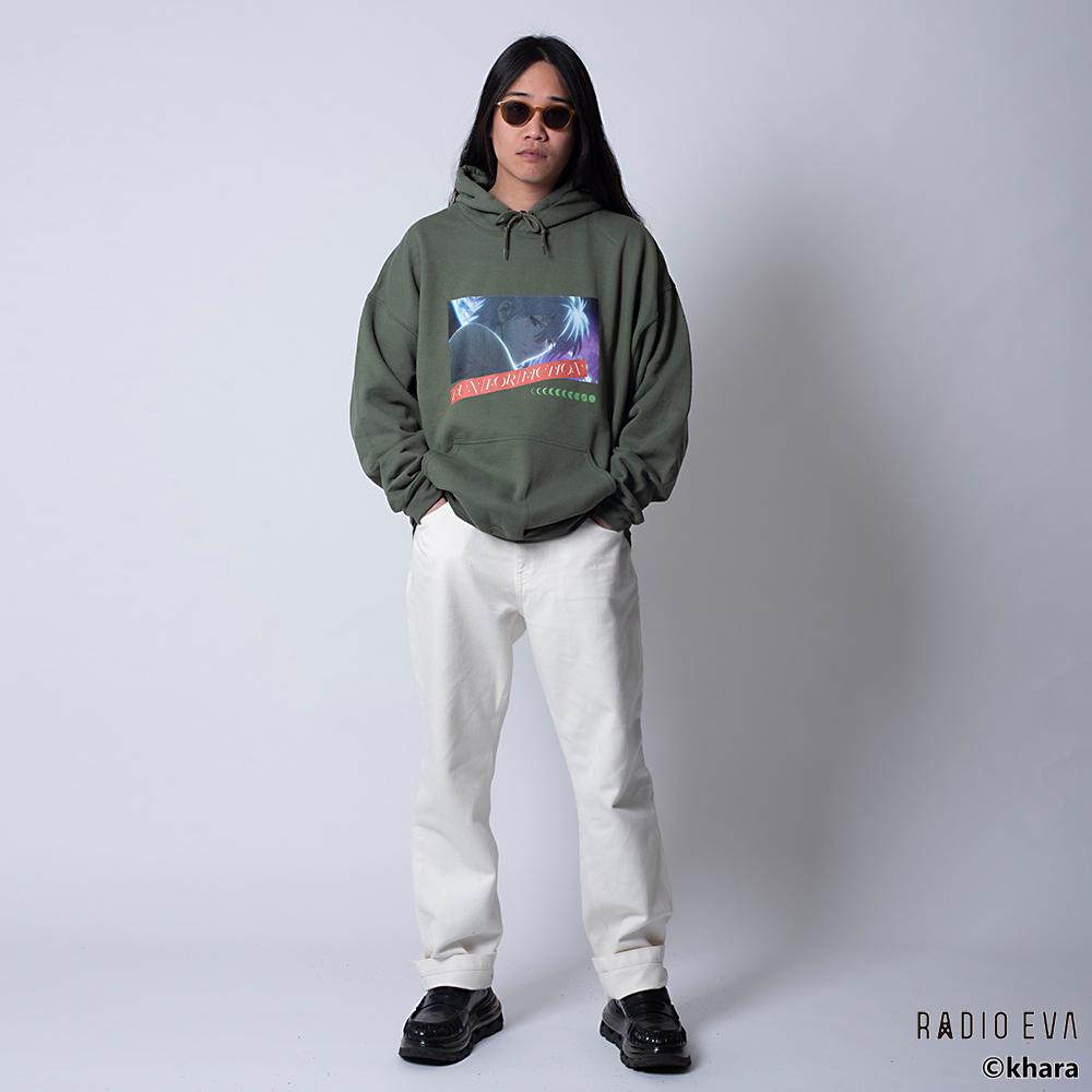 Kaworu MOON PULL PARKA (DARK GREEN)  /  RADIO EVA