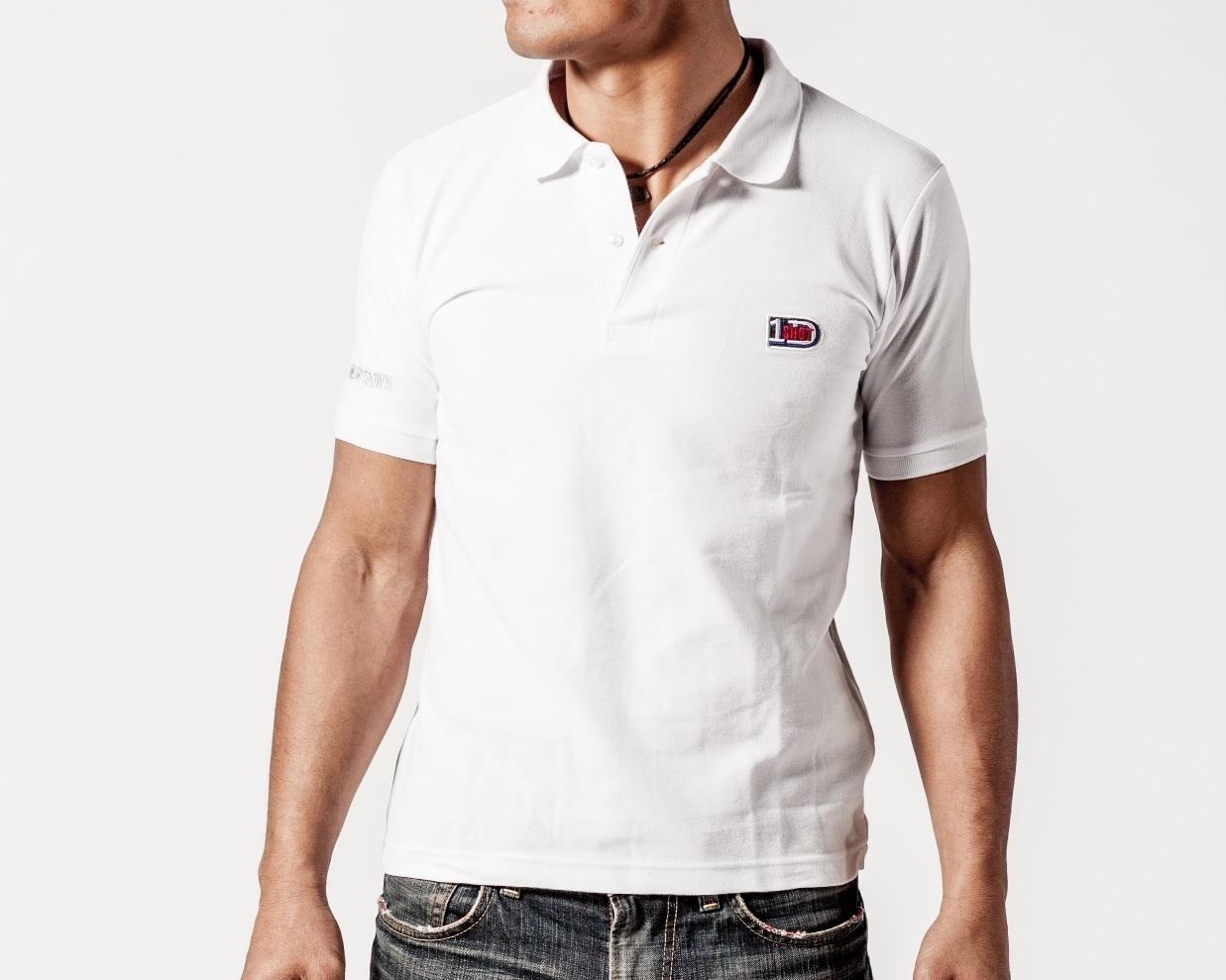 ONESHOTDOWN ワンポイントロゴ ポロシャツ - 画像2