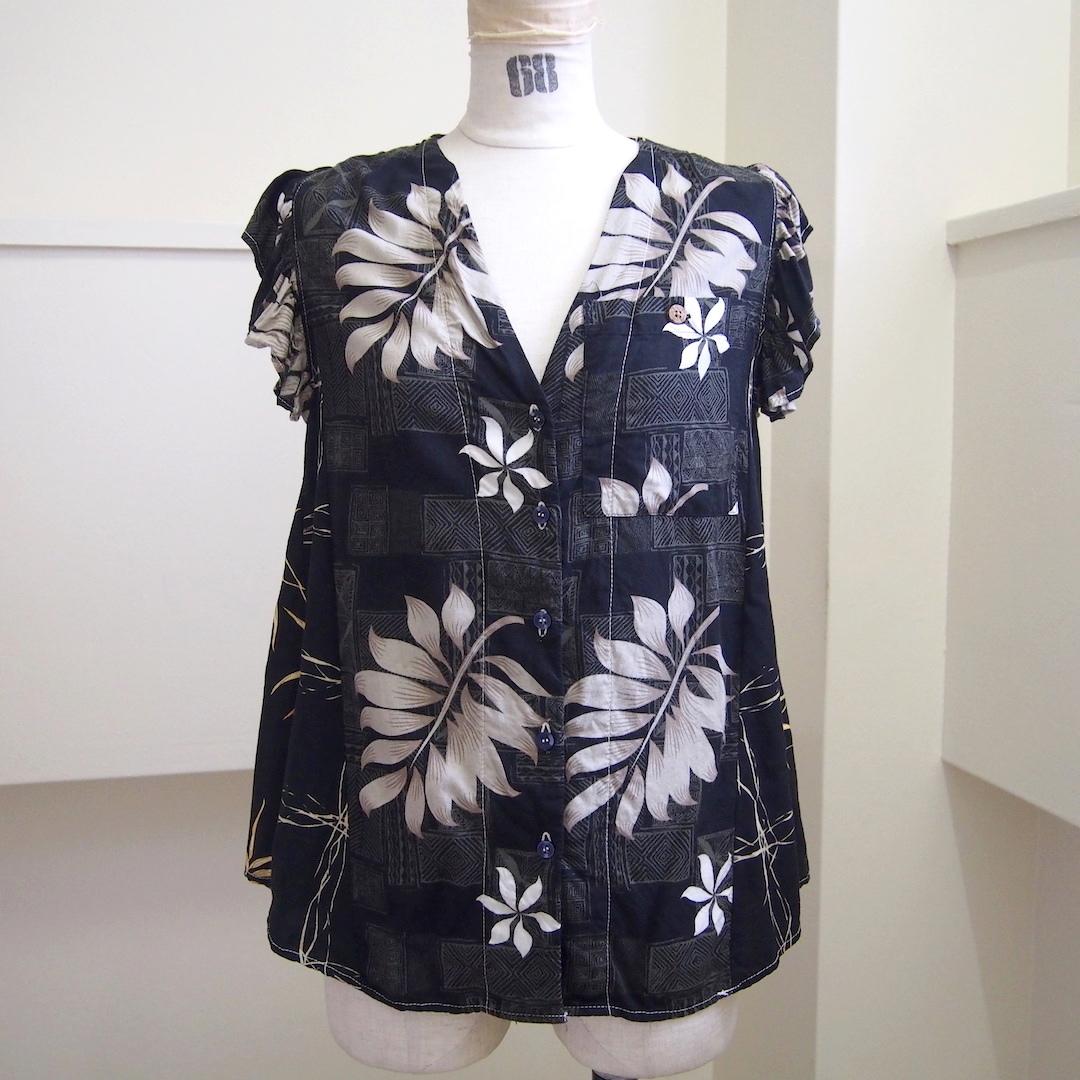 【RehersalL】aloha no sleeve blouse(C) /【リハーズオール】アロハノースリーブブラウス(C)
