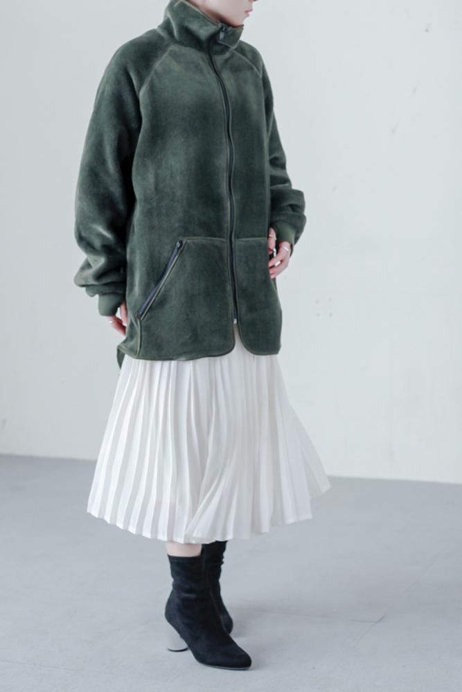 90's White Pleated Skirt