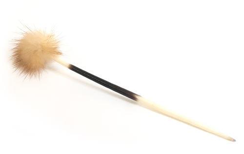 絨球 ヤマアラシ針の柄 兎毛