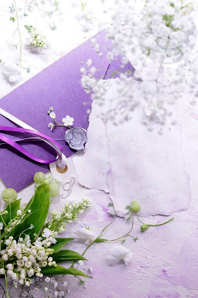 60サイズ:ライラックパープル「花香」を感じる5種の淡い色のスタイリングボード