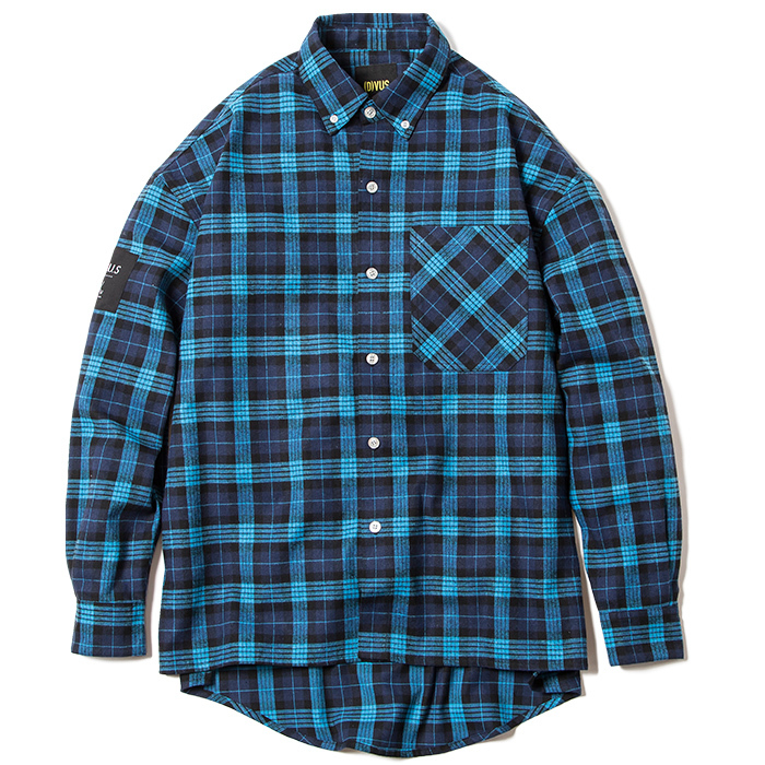 【Deviluse | デビルユース】 Check Shirts(Blue)