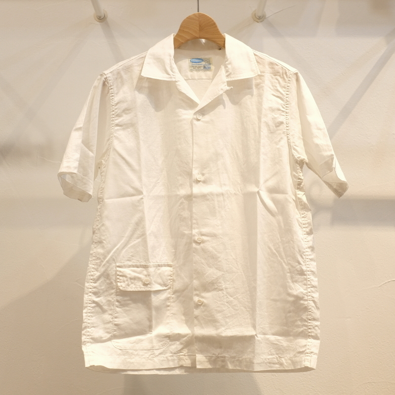 Workers(ワーカーズ) コットンリネン オープンカラーシャツ ホワイト