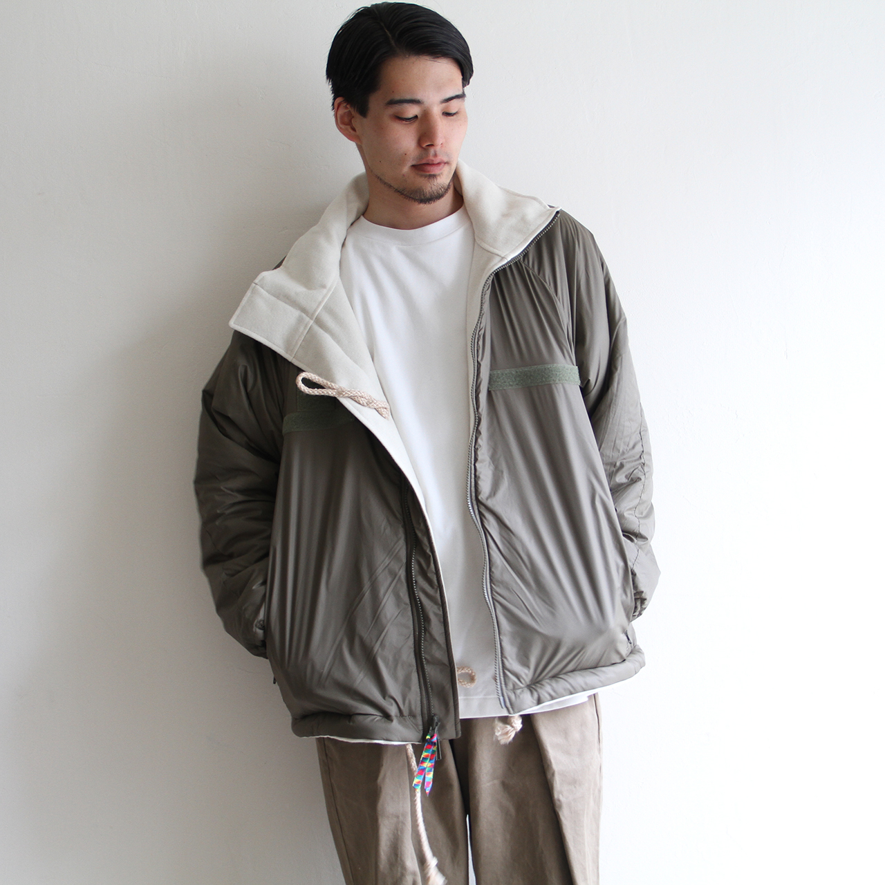 is-ness【 mens 】reversible military jacket