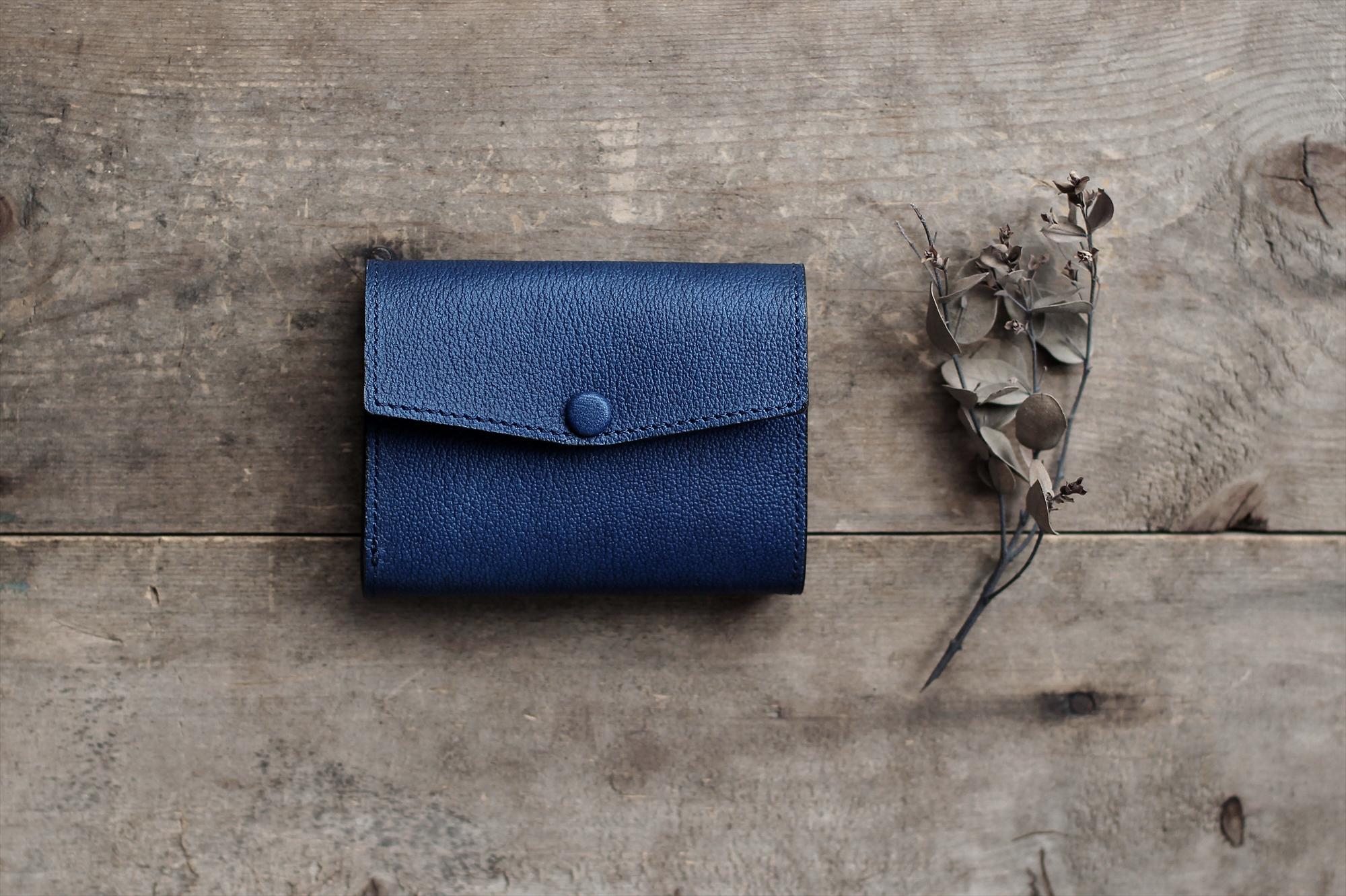 藍染革[shiboai] コンパクトミニ財布