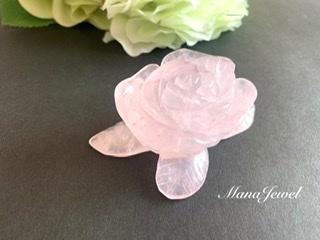 ✴︎置石✴︎ローズクォーツ 薔薇彫刻 紅水晶 《B》