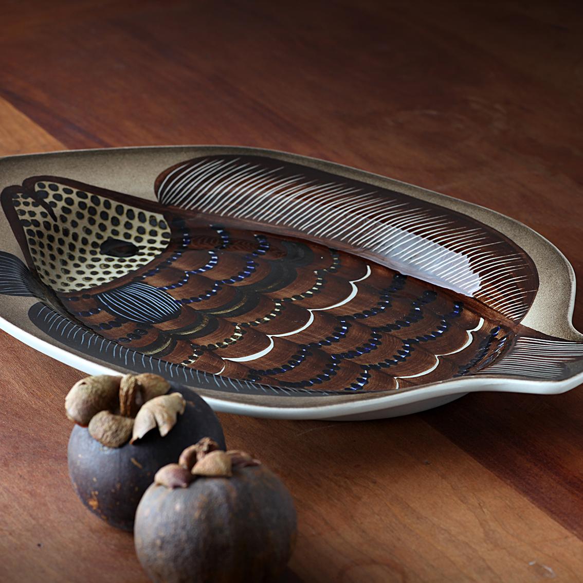 ARABIA アラビア グンヴァル オリン グランクヴィスト 魚の絵の皿 北欧ヴィンテージ