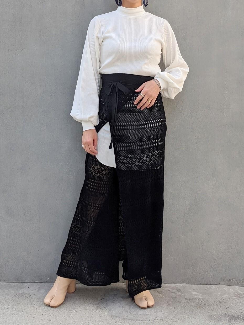 Lace Wrap Skirt - BLACK