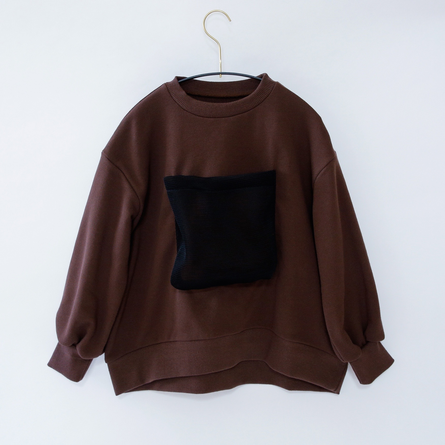 《michirico 2020AW》Front pocket sweats / brown / S・M