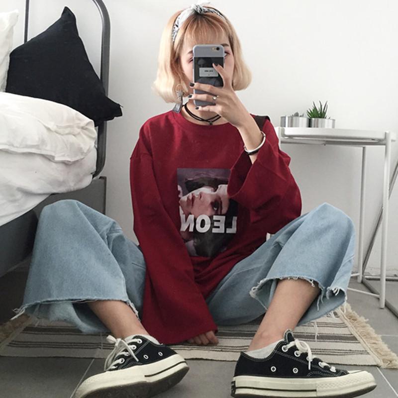 【tops】プリントファッション配色プルオーバーTシャツ24336069