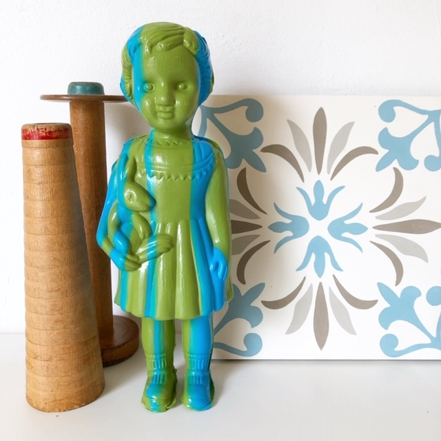 Clonette Doll 24cm グリーンストライプ (クロネットドール)
