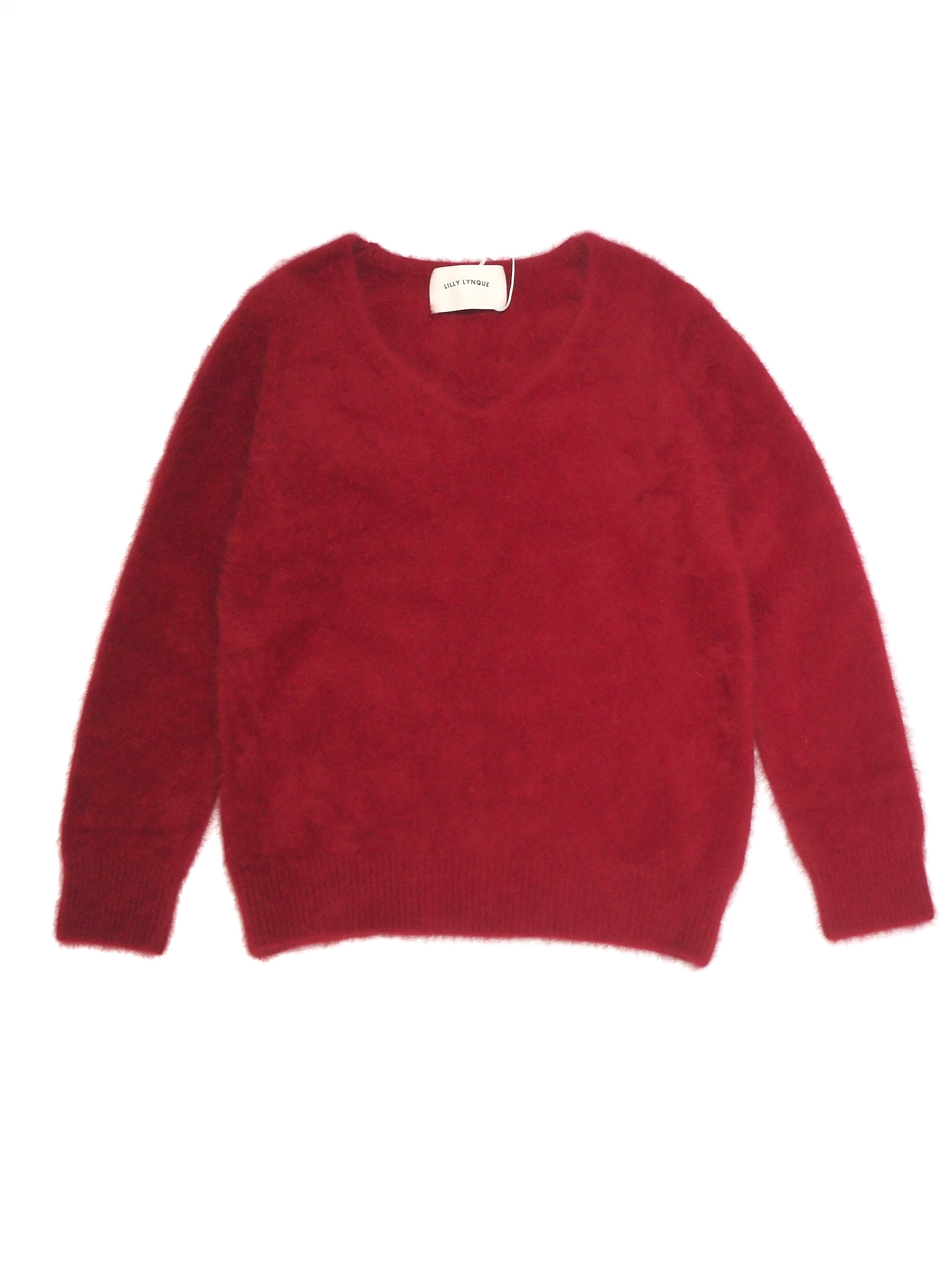 【LILLY LYNQUE】RACCOON V NECK KNIT