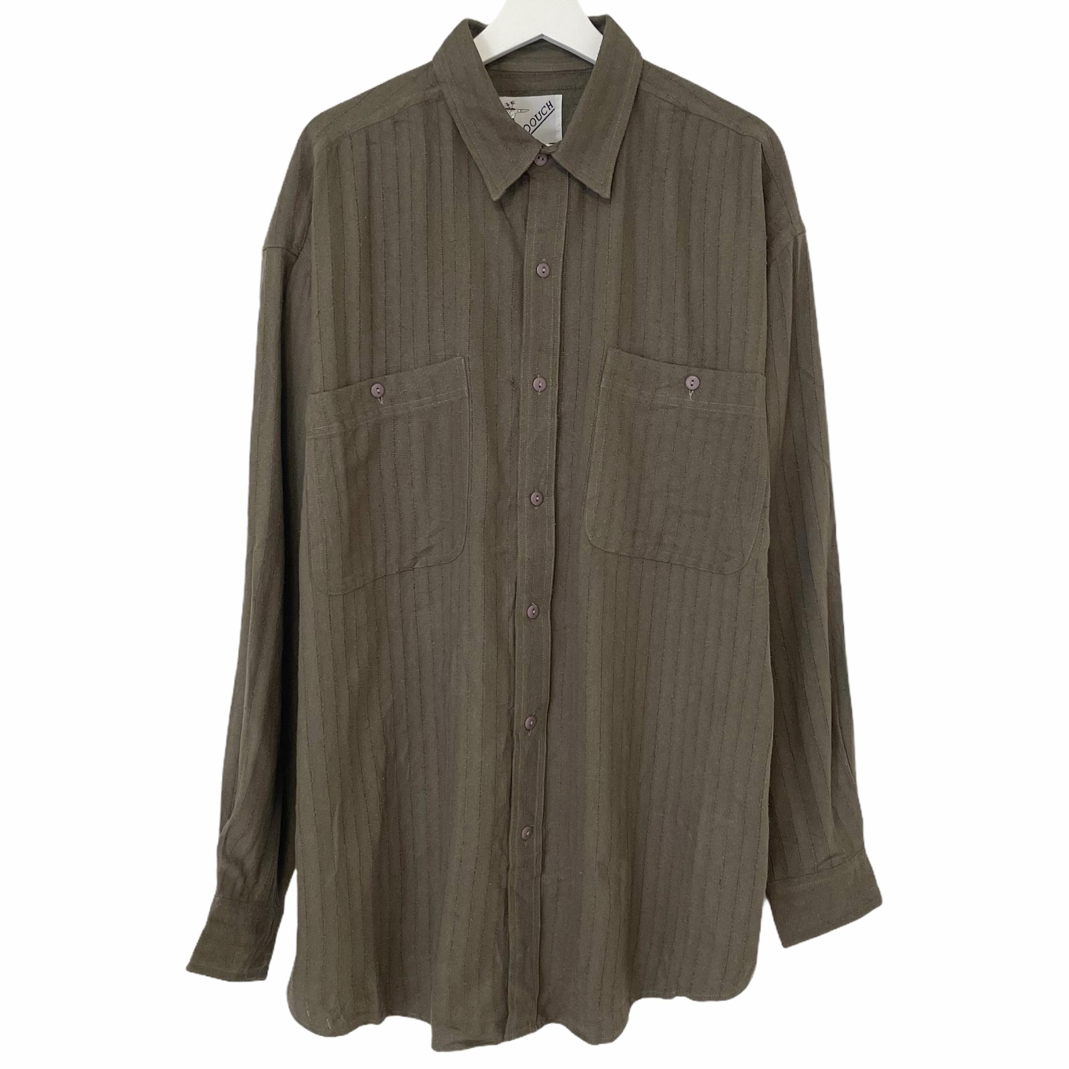 Dead Stock 90's GOOUCH Silk Shirt 【 KHAKI 】