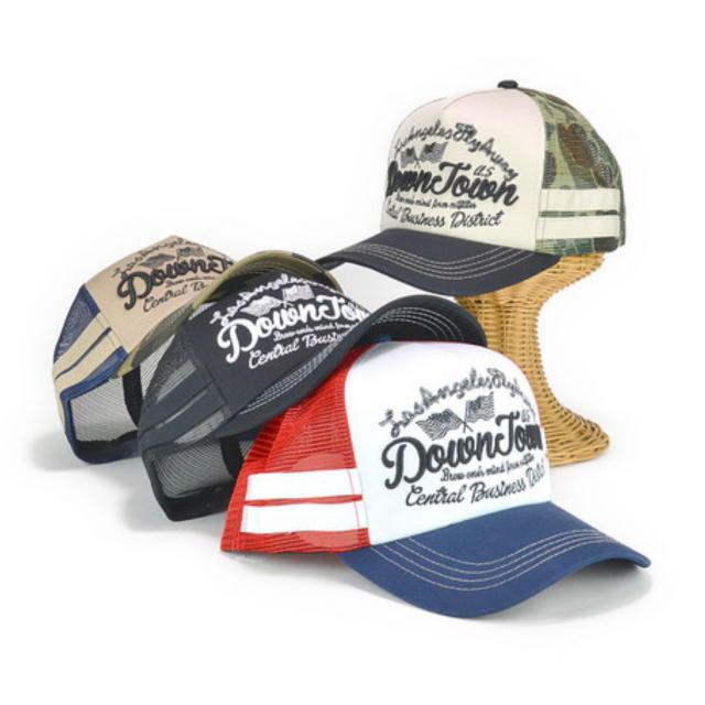 USフラッグエンブレムメッシュキャップ レディース帽子