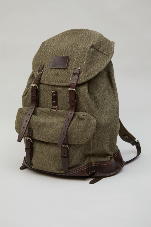 スイスアーミーリュックサック / SWISS ARMY RUCKSACK - SWISS ARMY FABRIC + HOWEEN LEATHER