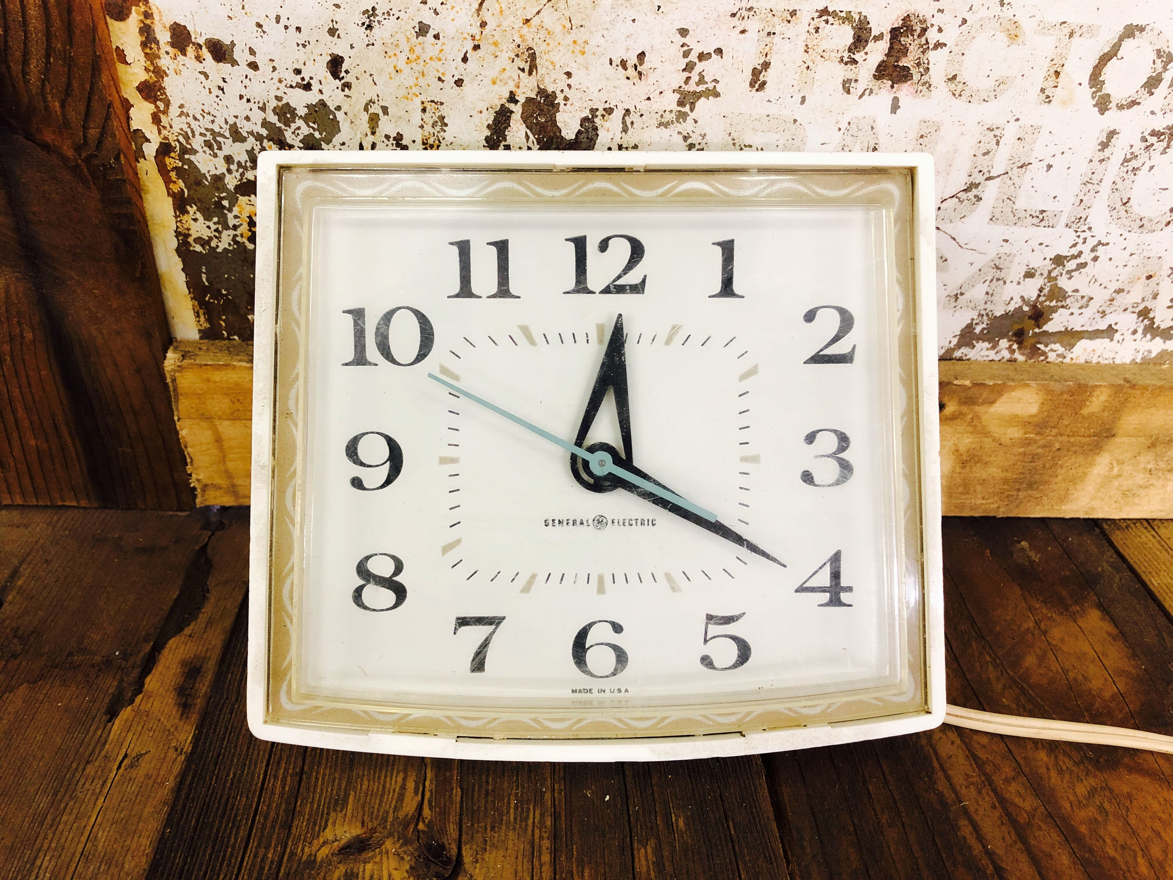 品番0785 置き時計 GENERAL ELECTRIC(ゼネラルエレクトリック) グリーン インテリア アンティーク ヴィンテージ