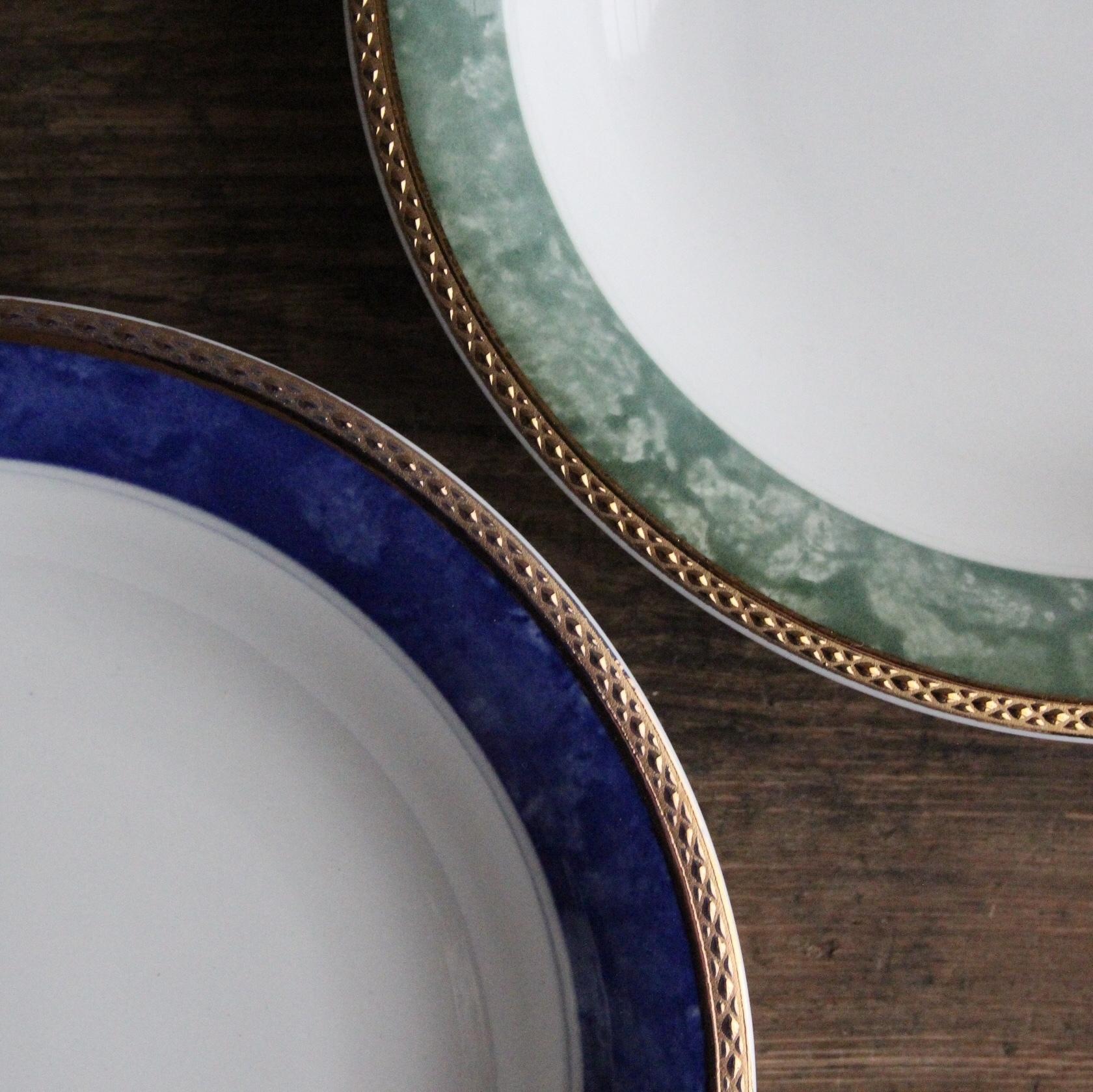 東濃陶器 金リムのお皿2枚セット