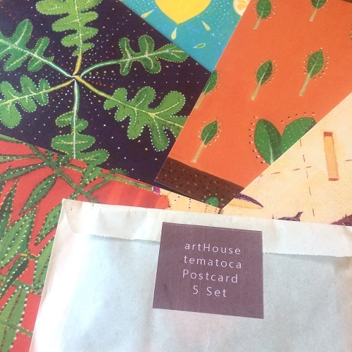 ポストカード「野菜」5枚セット(組み合わせ自由)