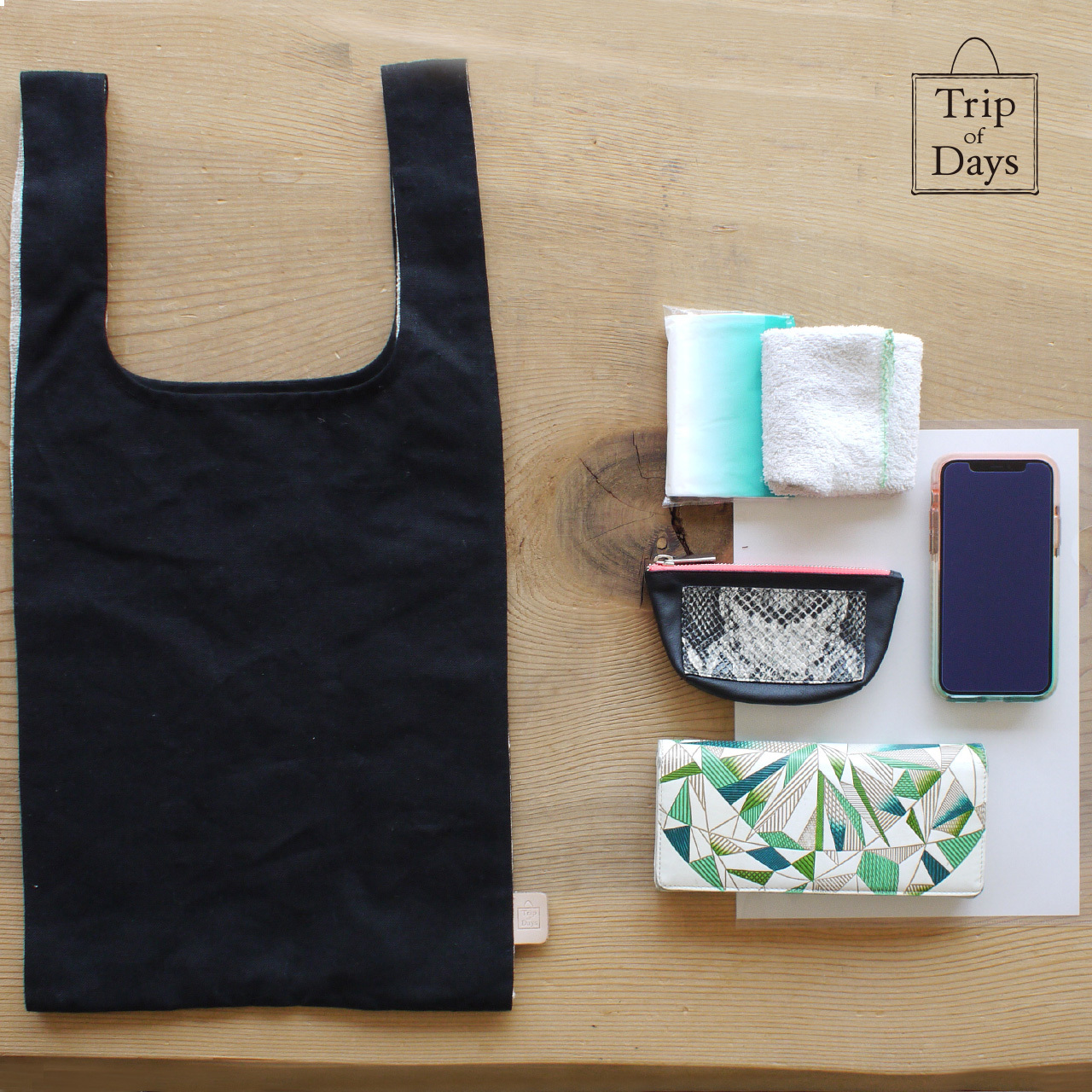 one mile bag   size L2   黒 × 紺しま
