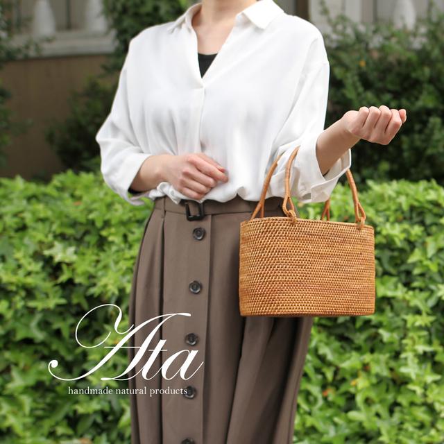 ■当日出荷■洋服でも和服でも、アタのシンプルお上品なかごハンドバッグ A49 (ハンドバッグ、和装、かご、お出かけ)