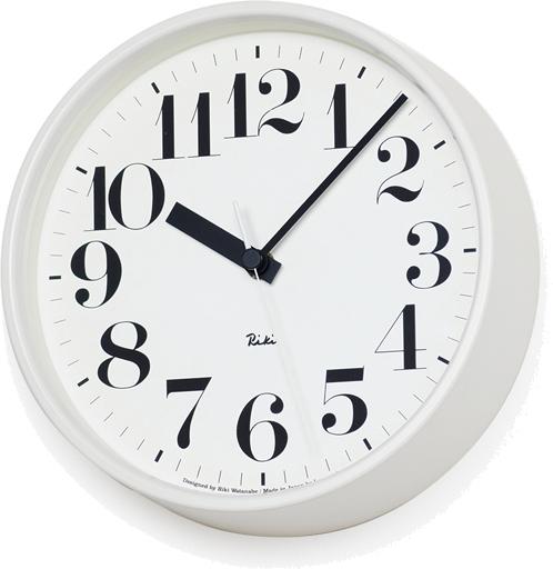タカタレムノス RIKI STEEL CLOCK 電波時計 ホワイト WR08-25 WH