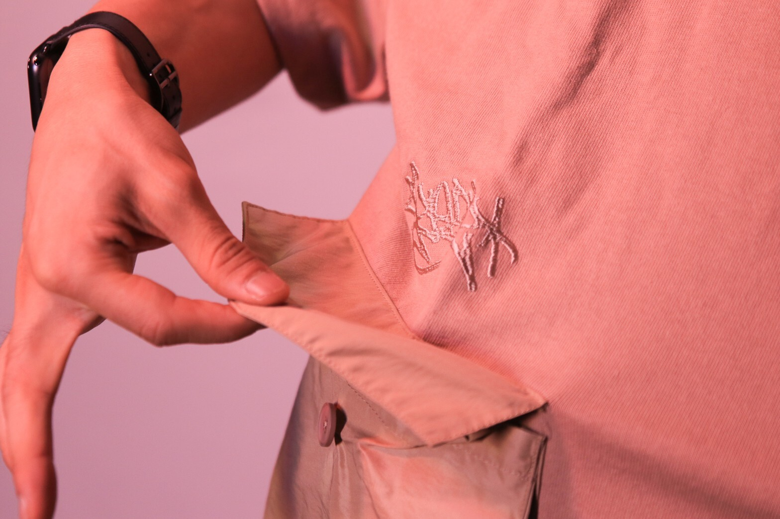 2POCKET OVERSIZE HEAVY TEE Kreso Tag Exclusive [CORAL]