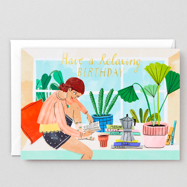 WRAP / RELAXING BIRTHDAY GREETING CARD -Illustrated by Bodil Jane- アートカード
