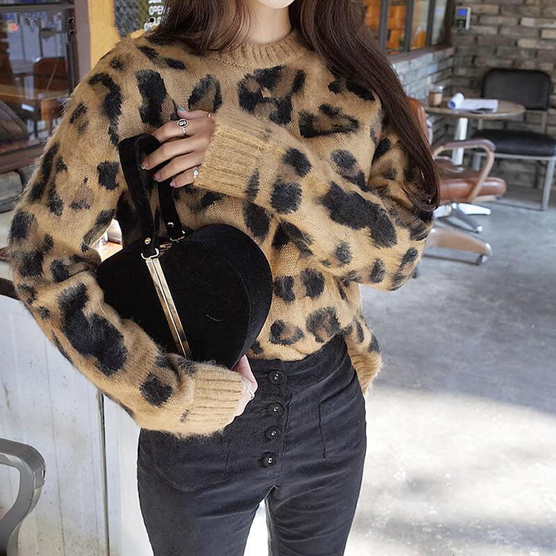 ヒョウ柄 豹柄 セーター ニット