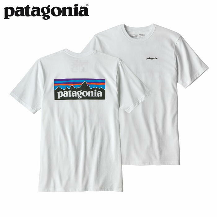 パタゴニア PATAGONIA Tシャツ 半袖 メンズ P-6ロゴ レスポンシビリティー 39174 White【正規取扱店】