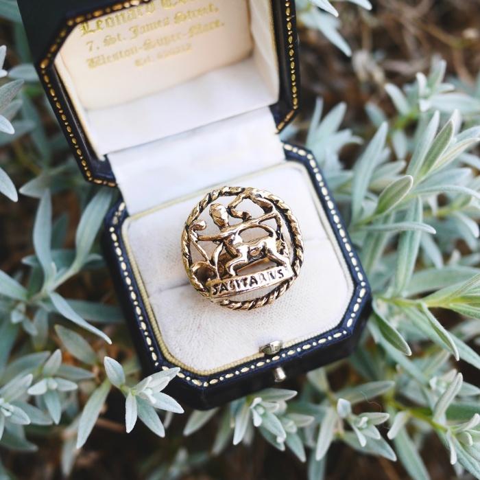12星座 いて座(サジタリアス)70s ヴィンテージリング(指輪)フリーサイズ Vintage Ring Zodiac