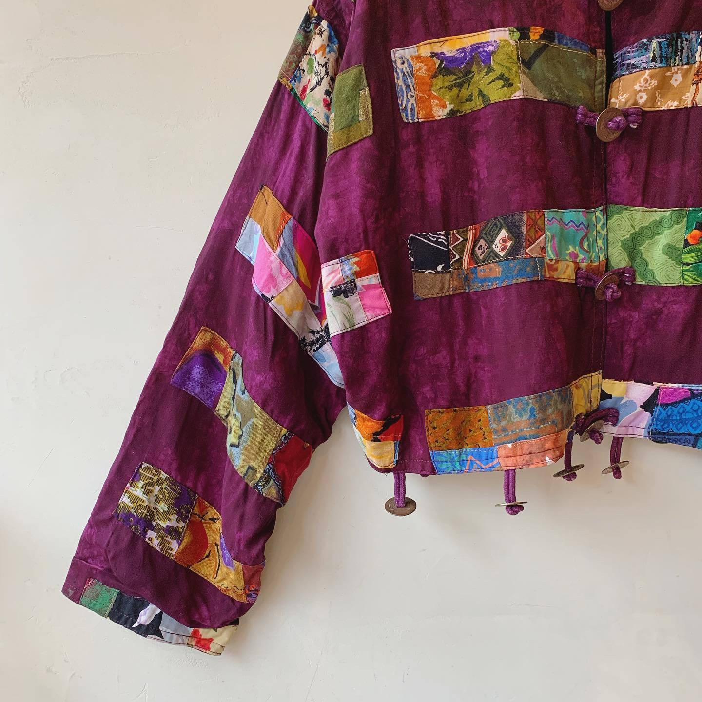 vintage coin patchwork tops