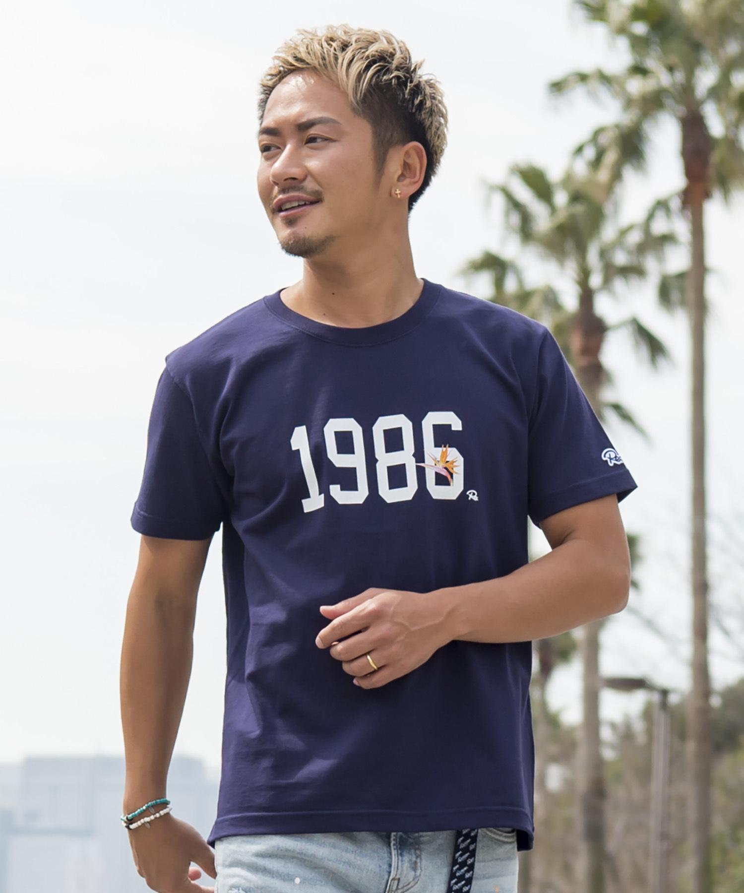 1986 Re: FLOWER PRINT T-shirt[REC174]