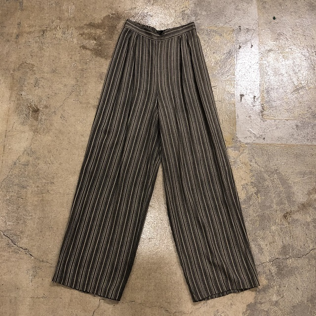 STRIPE EASY WIDE PANTS #BT-077