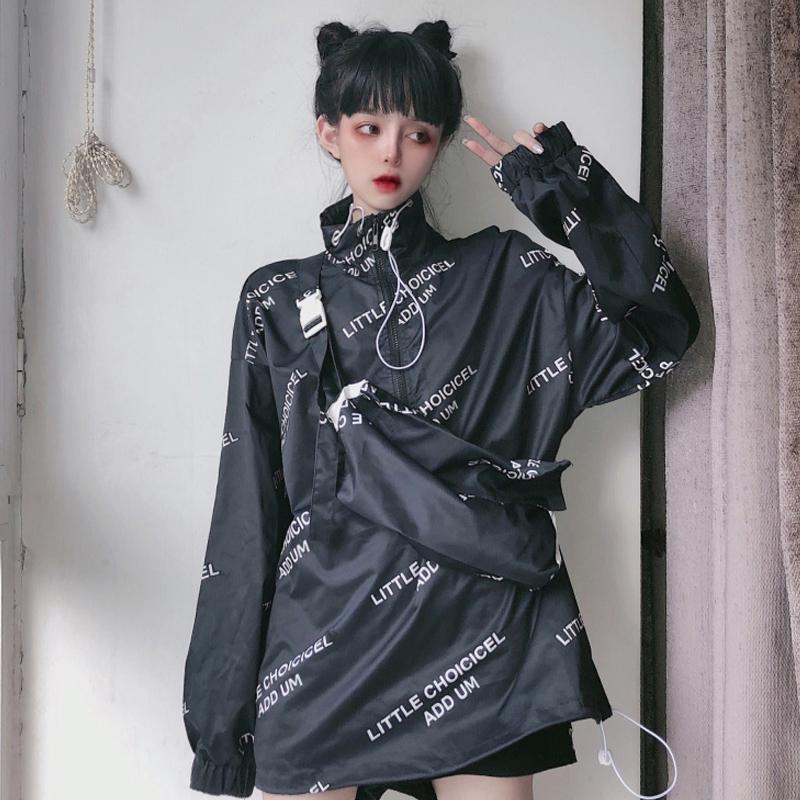 【outer】人気新作配色バッグ付きジャケット22441855