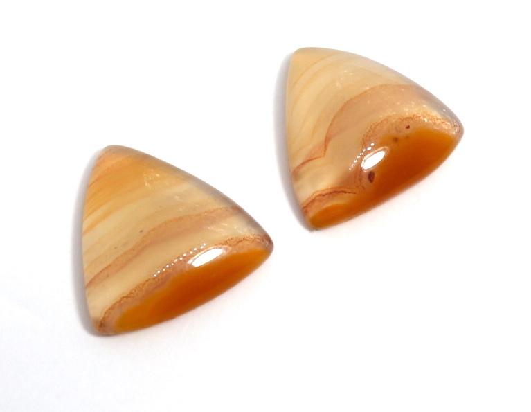 アゲート 三角カボション #2 原石 研磨