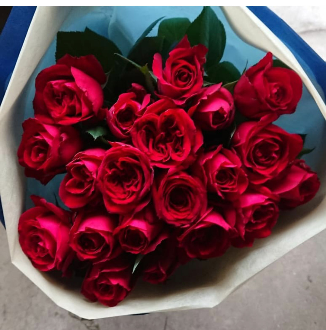 赤バラの花束20本