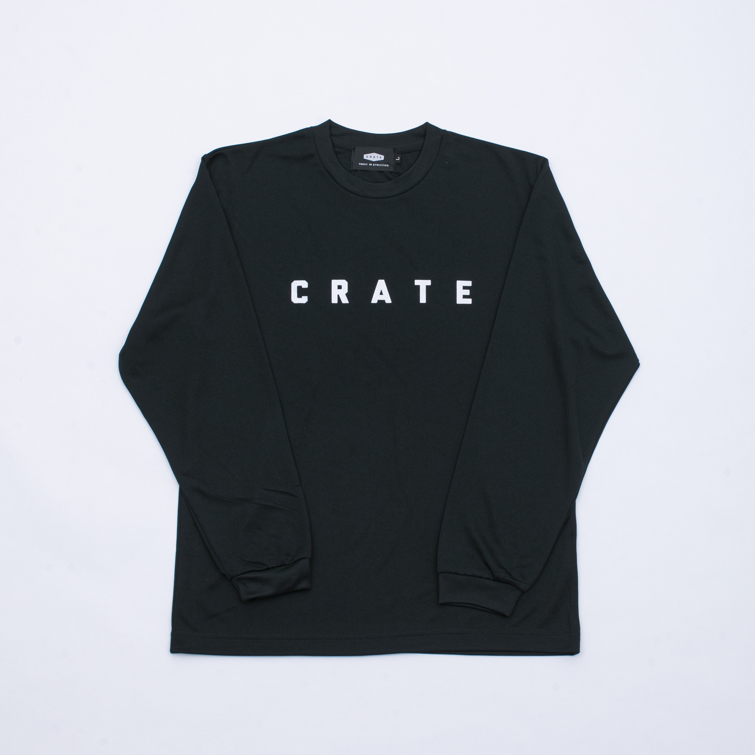 CRATE Simple Logo MESH L/S T-Shirts BLACK