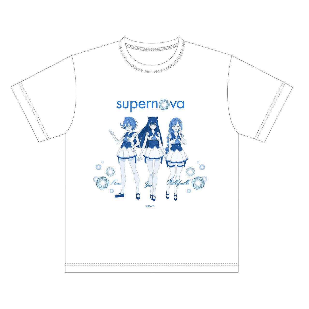 【4589839354677予】ラピスリライツ supernova Tシャツ 白/Mサイズ