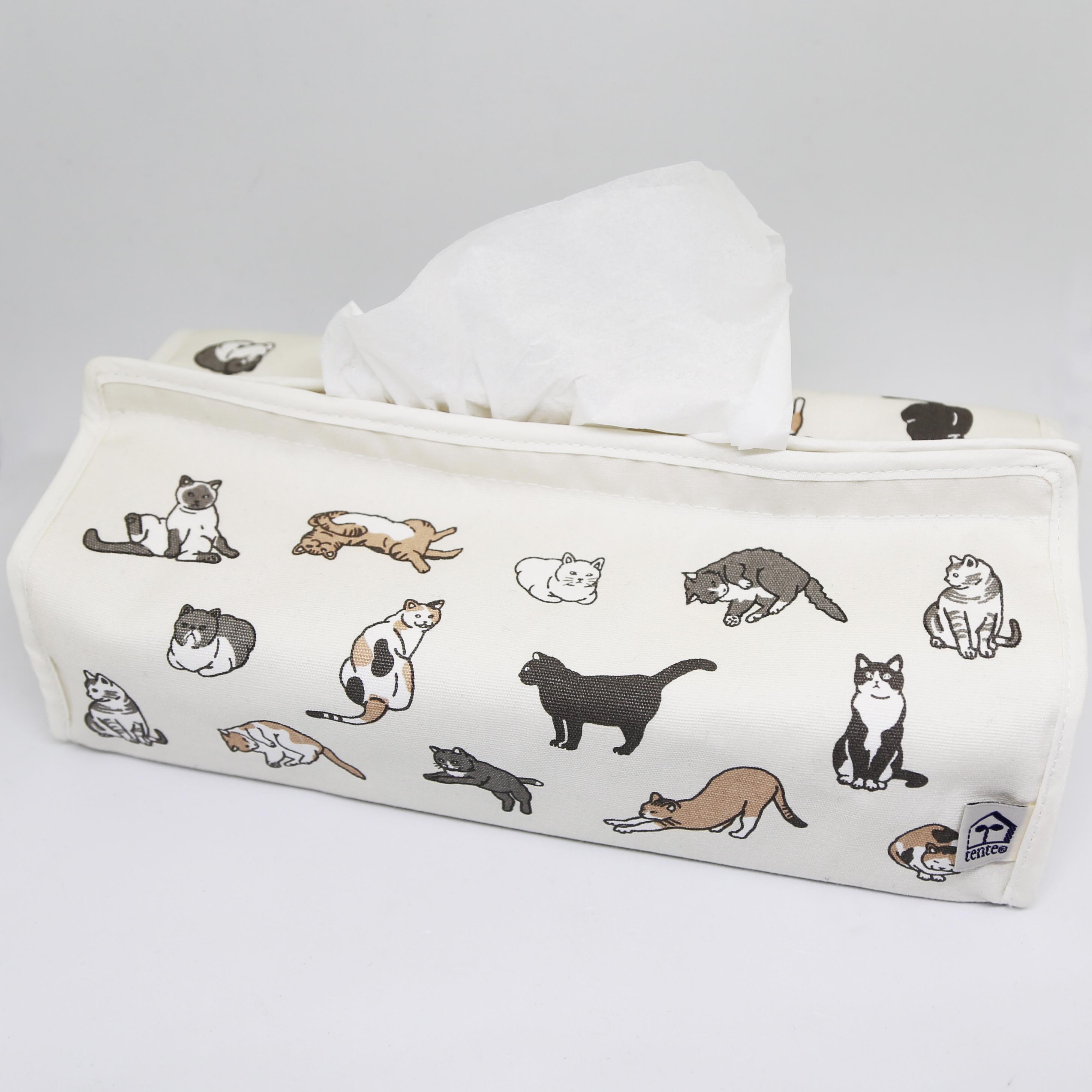 猫ティッシュボックスカバー(ネコいっぱい)
