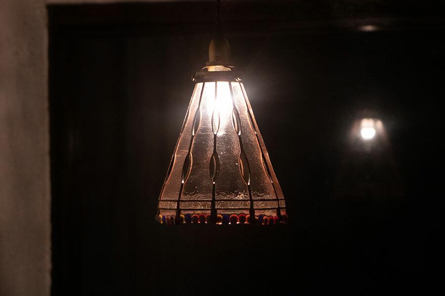 結(ゆい)(ステンドグラスの吊りランプ)(ペンダントライト)01010045