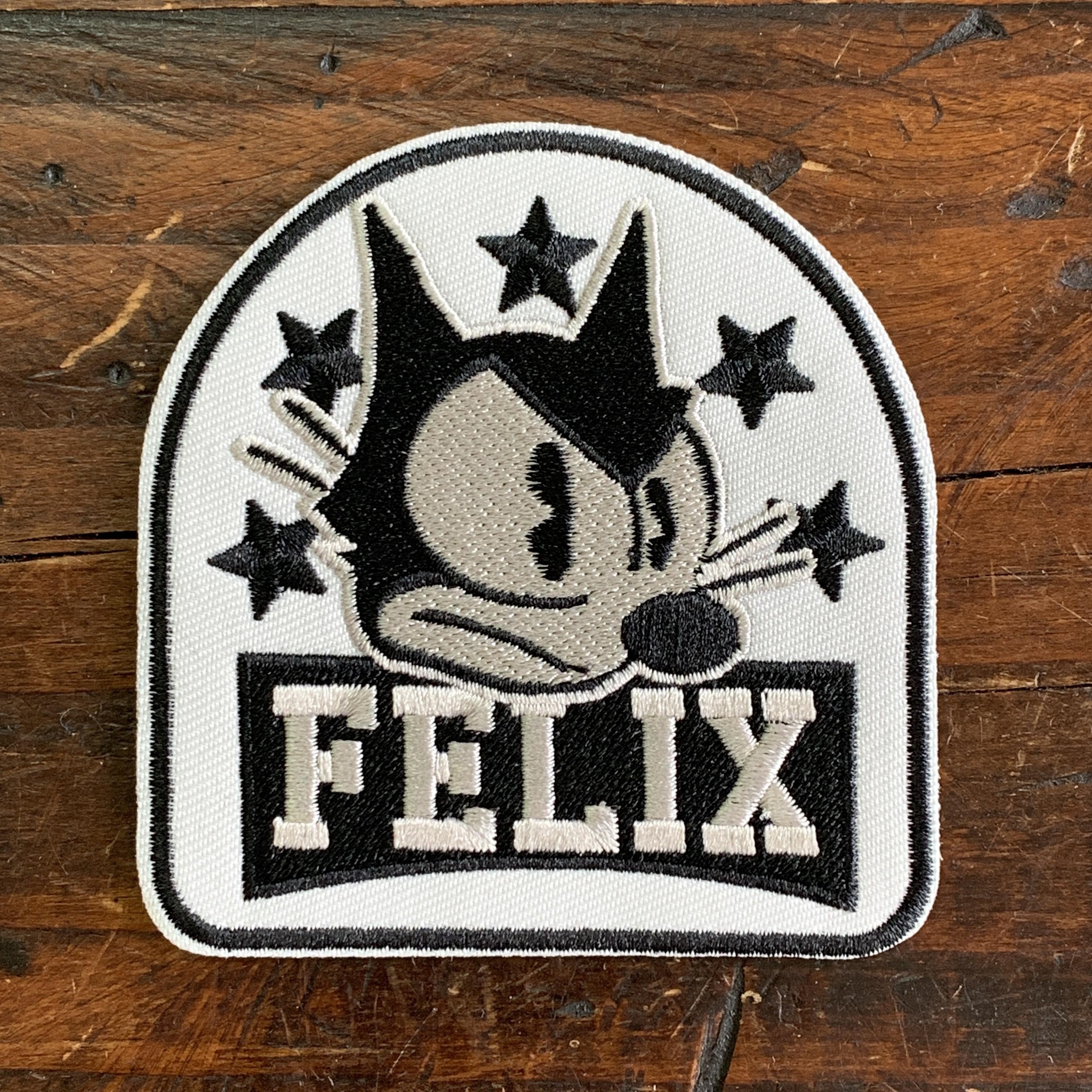 [FELIX]フィリックス 刺繍ワッペン・パッチ・アイロン糊付き・クラシック(B)スター
