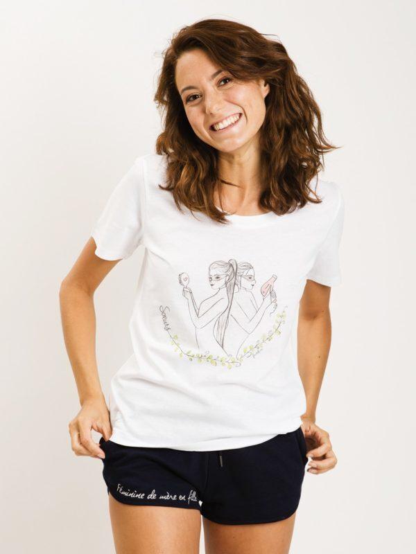 フランス製Tシャツ『SOEURS BLANC GRAND COL ROND』